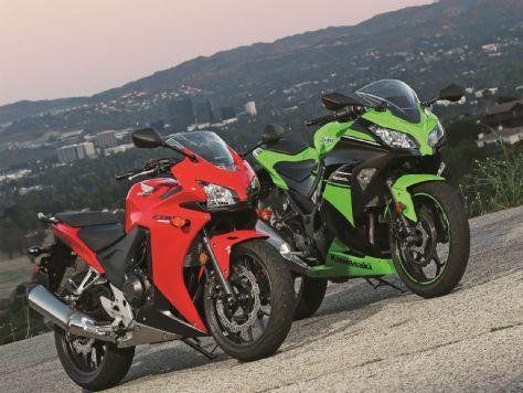 Honda CBR500R vs. Kawasaki Ninja 300 - Motorcyclist magazine
