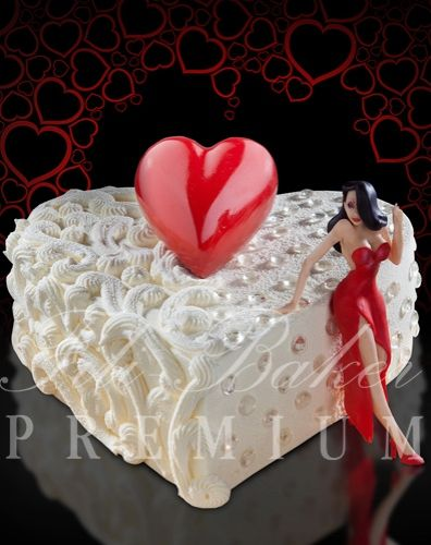 Торт в форме сердца для женщины - фото Fili Baker Premium