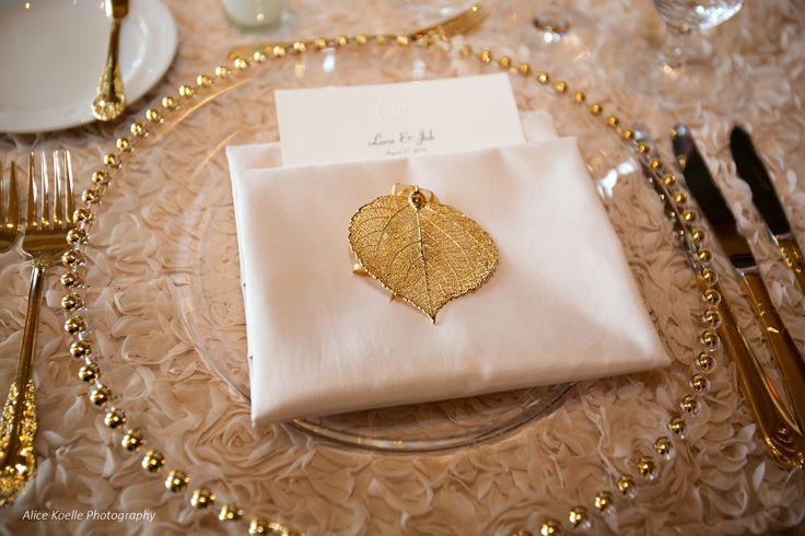 Aspen Leaf detail and favor