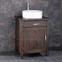 Ohio Solid Oak Wenge Bathroom Cabinet With Basin Http Www Clickbasin Co Uk Floor Mounted Single Door Unit Html