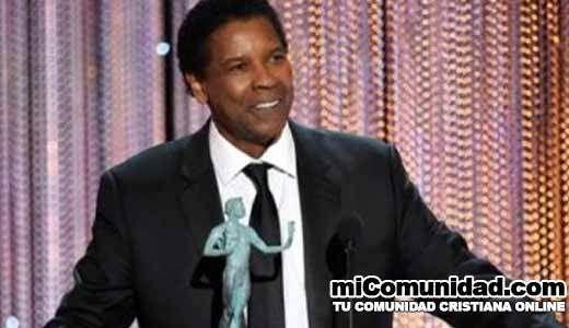 """Denzel Washington en premiación: """"Soy un hombre temeroso de Dios"""""""