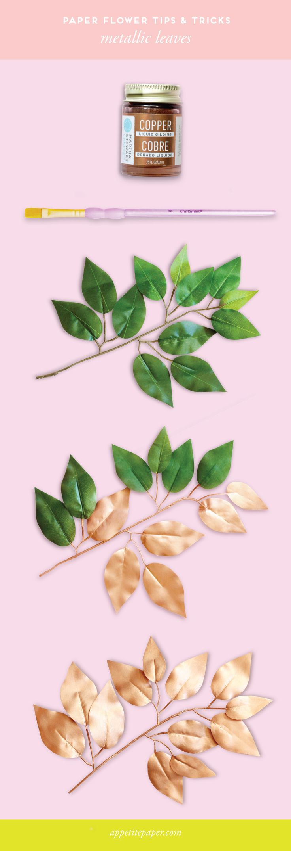 Appetite Paper: Paper Flower Tips & Tricks - Metallic Leaves