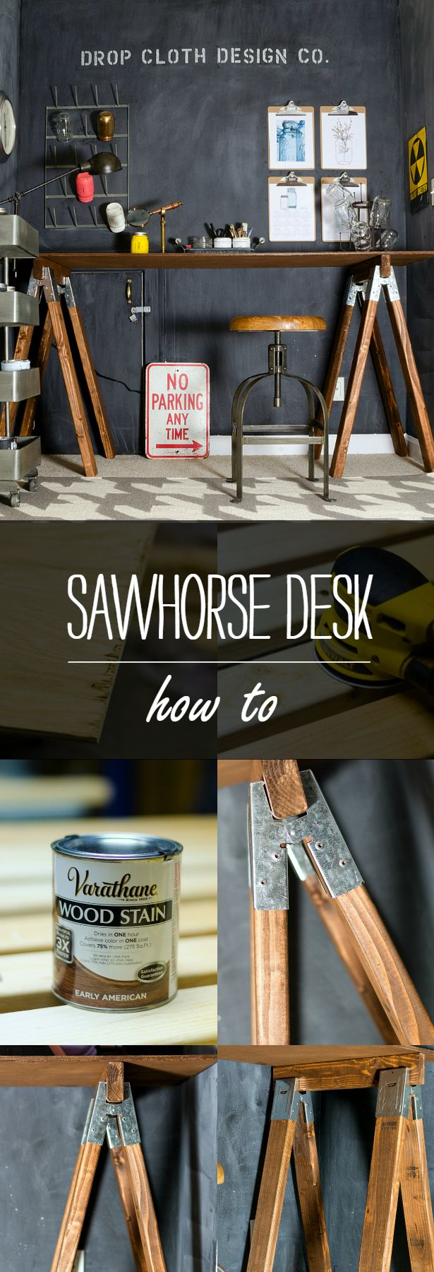 Saw Horse Desk How To - It All Started With Paint