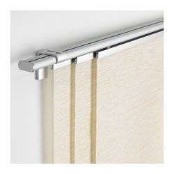 Panel Curtains for Sliding Door IKEA - KVARTAL, Triple curtain  rail, You can use the included connectors to extend the rail for a longer solution.The rail can be mounted to the wall or ceiling using appropriate hardware, sold separately.The rail can be cut to the desired length with a hacksaw.You can add the rail to a single layer combination to create a double layer combination.