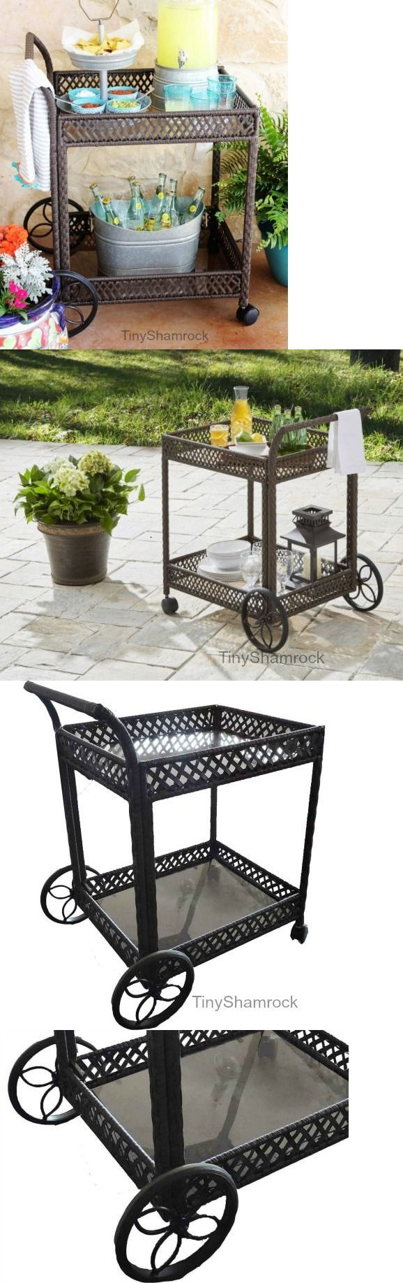 Outdoor buffet table serving cart as well century modern console table - Bar Carts And Serving Carts 183320 Wicker Serving Cart Rolling Drinks Server Patio Kitchen Bar