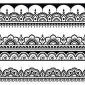 Indische nahtlose Muster, Design-Elemente - Mehndi Tattoo-Stil — Stockvektor