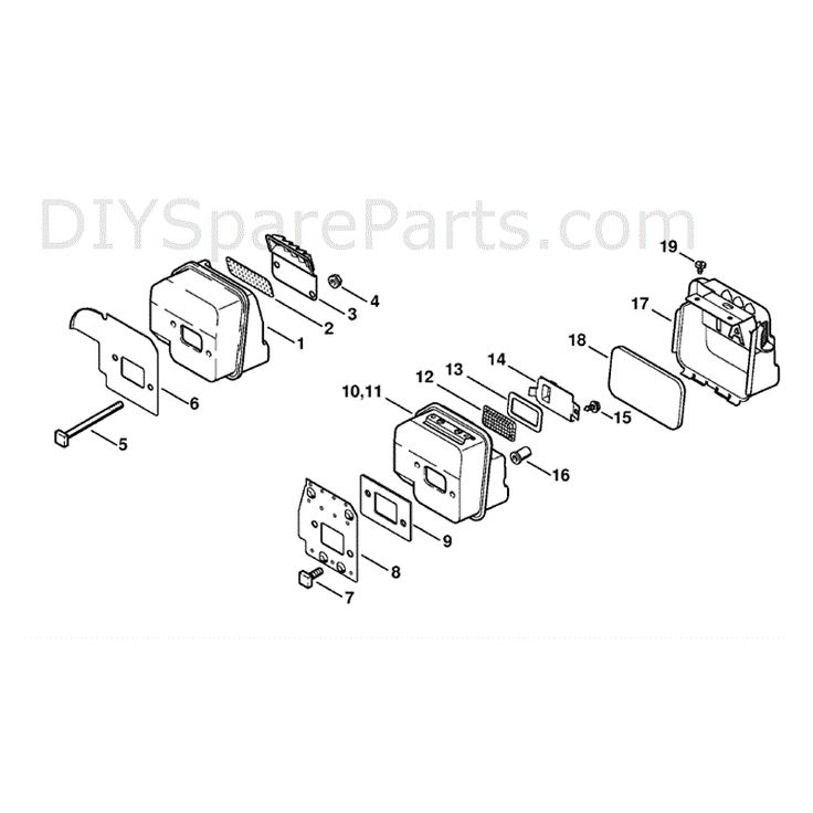 Stihl MS 180 Chainsaw (MS180C-B D) Parts Diagram, Muffler