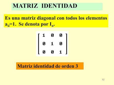 Resultado de imagen para matriz identidad