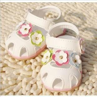 Стиль девочки сандалии сладкий цветы принцесса младенцы лето обувь дети Size13-17 For1-5years