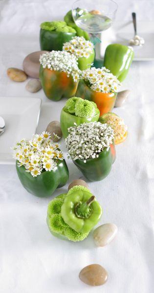Frühlings-Mittelstück der grünen Paprikaschoten…