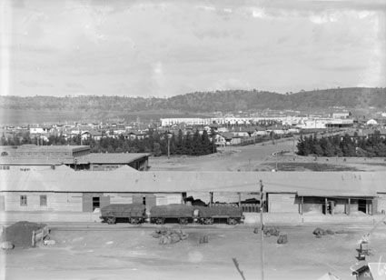 Title : Kingston area and shops from the Kingston Power Station showing railway trucks loaded with coal  Date : 1929 Primary subject : Not Assigned Secondary subject : Not Assigned Image no. : A3560, 5265 Barcode : 3151446 Location : Canberra Find other items in this series :  A3560 Series accession number : A3560