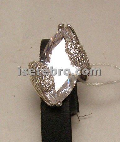 Серебряное кольцо женское со вставкой - 670 грн