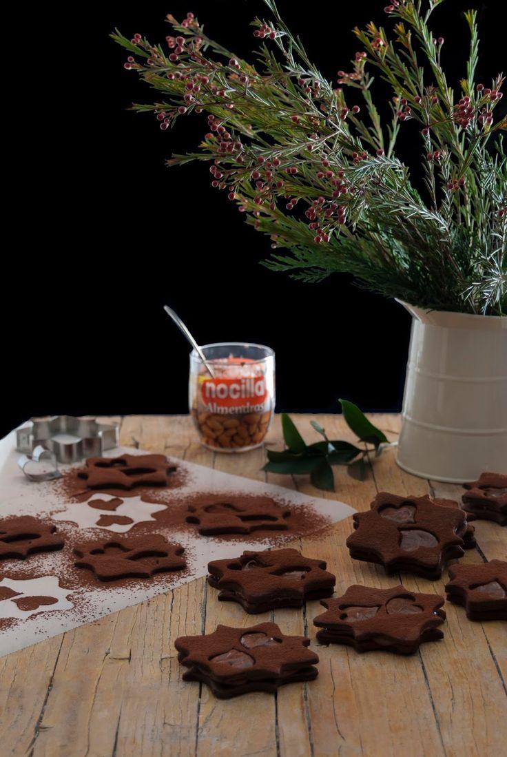 La asaltante de dulces: Receta de galletas de centeno y Nocilla/ Rye and Nocilla cookies recipe