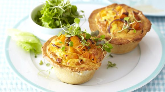 Butternut and blue cheese quiche
