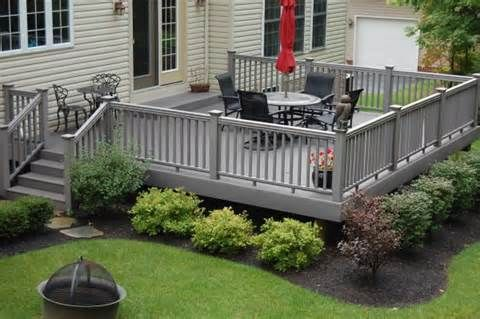 Image detail for -Wood deck for backyard for small area. VERY NICE