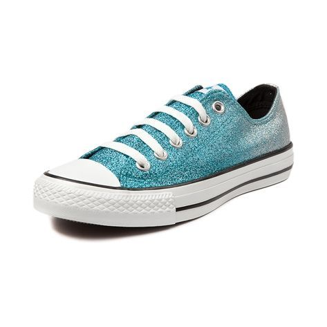 Shop for Converse All Star Lo Glitter Sneaker in Turquoise Silver at Journeys Shoes. Shop today for the hottest brands in mens shoes and womens shoes at Journeys.com.The original Old School athletic shoe is still cool. Some things dont change because they dont need to. Faded upper with allover glitter. Available exclusively at Journeys and SHI!Please note that this shoe runs a half size large.