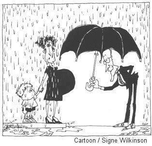 This sums it up completely. The Republican Umbrella. If you don't believe in abortion, I won't make you have one - and if you are a man, I suggest you keep it in your pants or be ready to sign a binding agreement to support any resultant child to a standard of living equal to your own THROUGH college!!