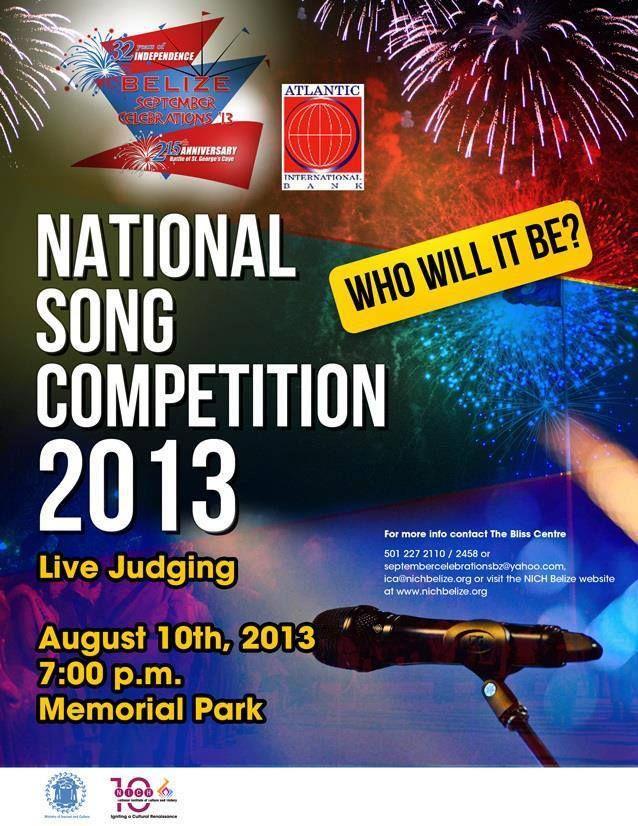 Belize National Song Competition 2013 - September Celebrations Belize Event