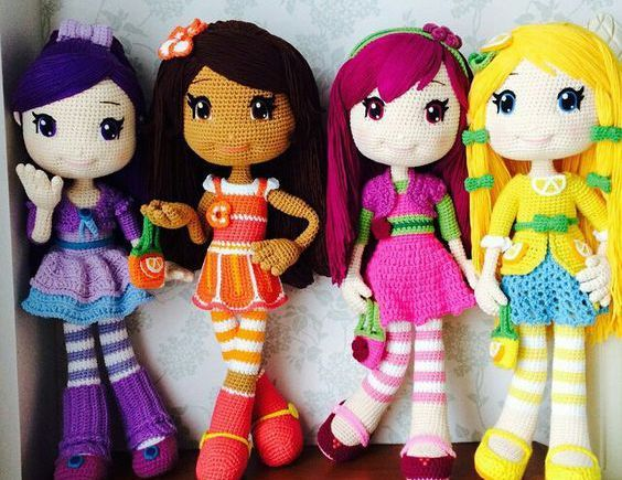 Bonecas Turma da Moranguinho de Croche – Saiba Como Fazer Lindas bonequinhas com uma SIMPLES e INCRÍVEL Técnica Japonesa