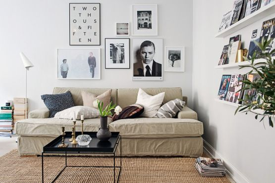 53 m² prácticos e informales – decorar con 'nuestras cosas'