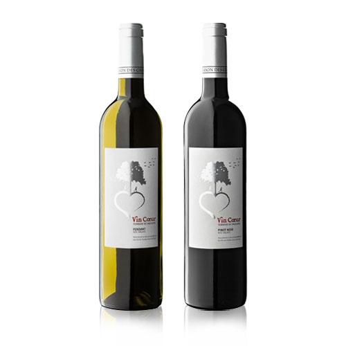 OCTANE communication | Vin Coeur, Terre des Hommes, Les Fils de Charles Favre #wine #label #design #packaging