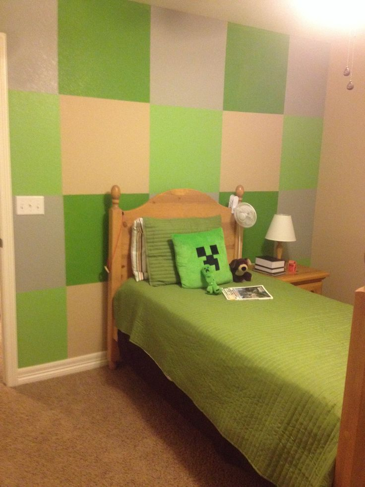 boys minecraft bedroomif they see this we will have painting
