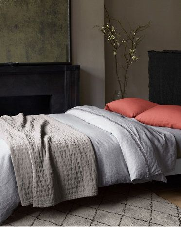 Eileen Fisher Rippled Cotton Coverlet In Oyster Grey. Must Get Soon.