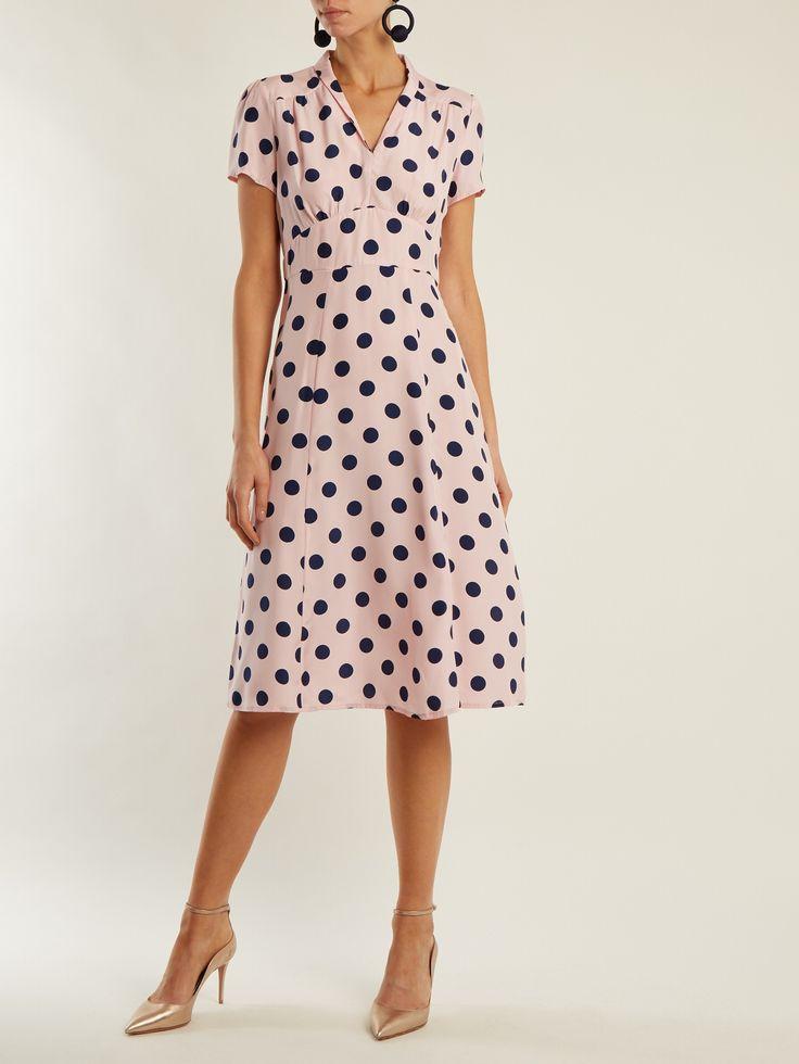 Morgan large polka-dot print silk dress | HVN | MATCHESFASHION.COM UK