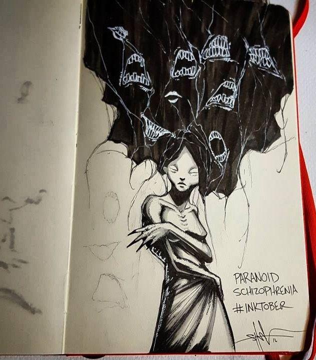 Esquizofrenia paranoide. La esquizofrenia paranoide se caracteriza por afectar directamente a la personalidad del individuo. Este no puede evitar tener alucinaciones internas (voces y derivados) mientras su desarrollo cognitivo desciende.