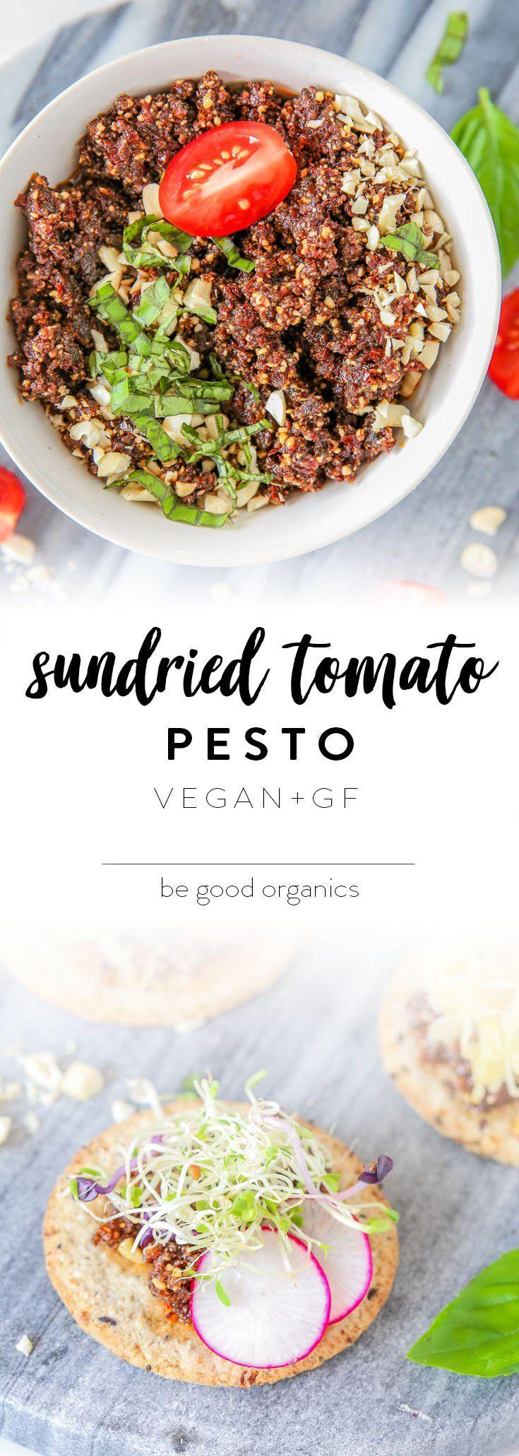 SUNDRIED TOMATO PESTO - vegan, plant based, easy, quick, 6 ingredients, gluten free, grain free, paleo, keto, ketogenic, low carb, sugar free, recipe, nutritionist, begoodorganics, buffyellen, Pinterest