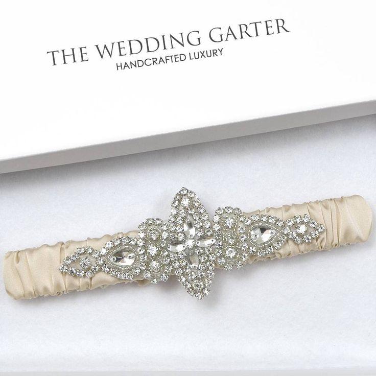 champagne gold rhinestone bridal garter