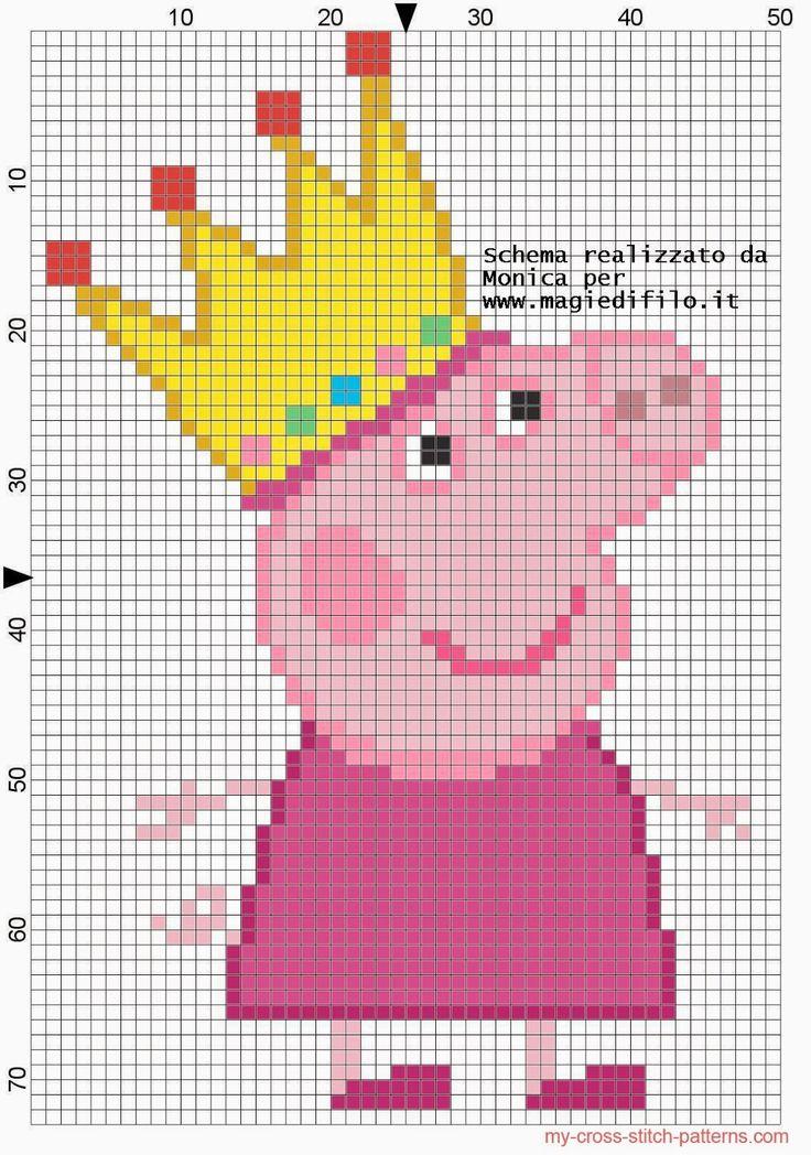 Les 19 meilleures images du tableau point de croix peppa pig sur pinterest broderie mod les - Fusee peppa pig ...