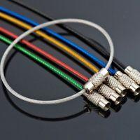 5pcs Chic σύρμα από ανοξείδωτο χάλυβα Μπρελόκ Cable μπρελόκ Αλυσίδες για υπαίθρια πεζοπορία