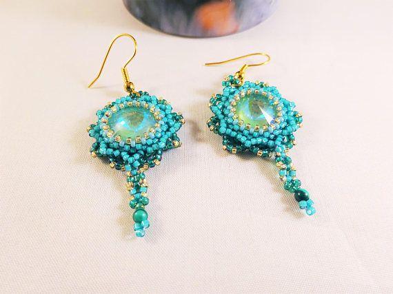 Delicate Groene Juwelen Vrouwen Kralen Oorbellen Romantisch