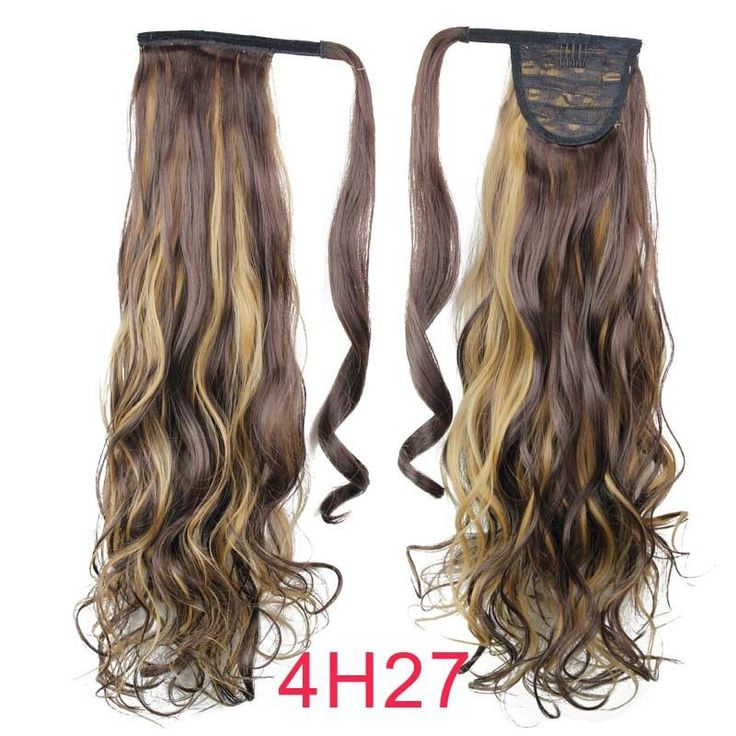 styling synthetic hair extensions 22 quot synthetic hair wavy clip in ribbon ponytail hair 3628