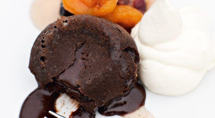 Chokladfondant med torkad frukt