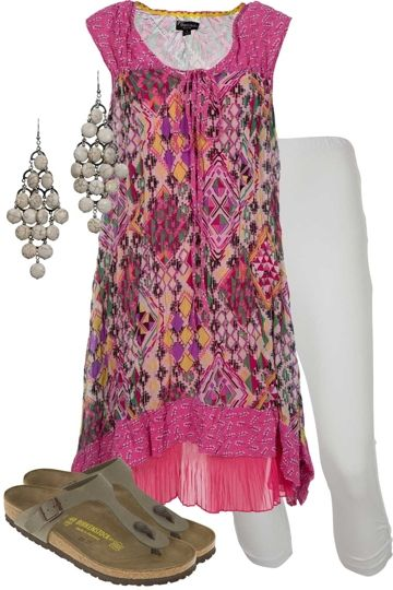 Hot Diamond Outfit includes Threadz, Birkenstock, and Adorne - Birdsnest Buy Online - white & stone accessories make the pink pop!