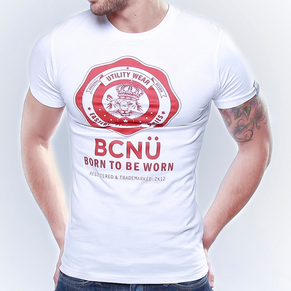 Long Island-TEE White  This is our signature UtiliTEE featuring the BCNÜ emblem.    Constructed from 100% cotton jersey this UtiliTEE is useful, functional, versatile, sporty and has been designed for everyday use. Dress it up, dress it down, wear it in, wear it out. www.bcnuclothing.com