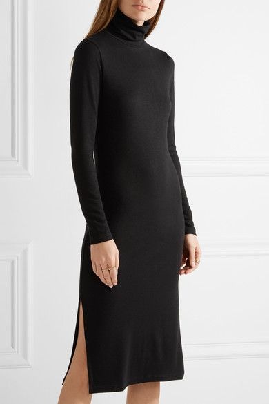 James Perse | Stretch-jersey turtleneck dress | NET-A-PORTER.COM