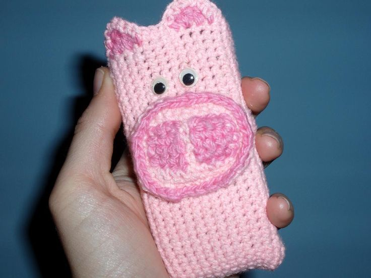 Looking for your next project? You're going to love Pink Piggy Phone Cozy by designer Sarah AlderSign. - via @Craftsy