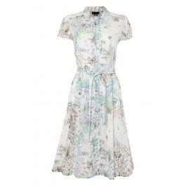 Paul Smith Cotton Botanical Print Shirt Dress