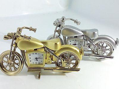 Orologio Da Tavola a Forma di Moto Harley Davidson Oro Argento Max Store Italia
