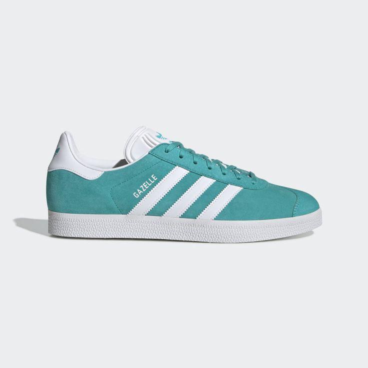 Gazelle Shoes Hi-Res Aqua / Cloud White / Cloud White EE5510 ...