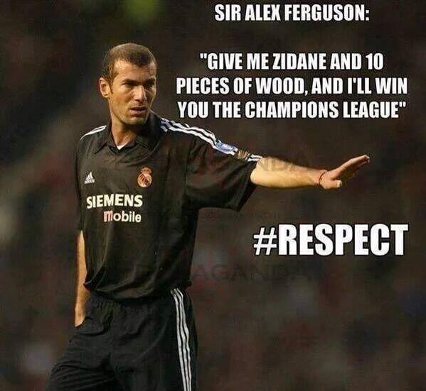 Dajcie mi Zidane'a i 10 drewniaków, a wygram Ligę Mistrzów • Alex Ferguson tak powiedział o Zinedine Zidane • Zobacz cytat piłkarski >>