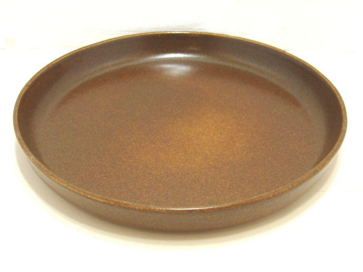 "Bennington pottery plate-Large bennington plate-Vintage bennington pottery-Bennington 1365A plate-Brown stoneware plate-David Gil plate 10"" by BECKSRELICS on Etsy"