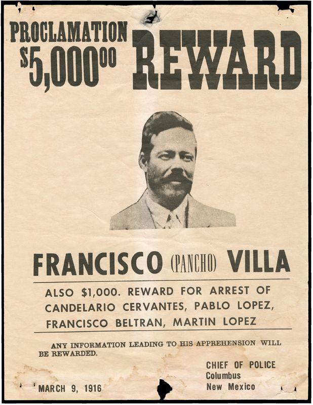 Pancho Villa Wanted Poster - 1916
