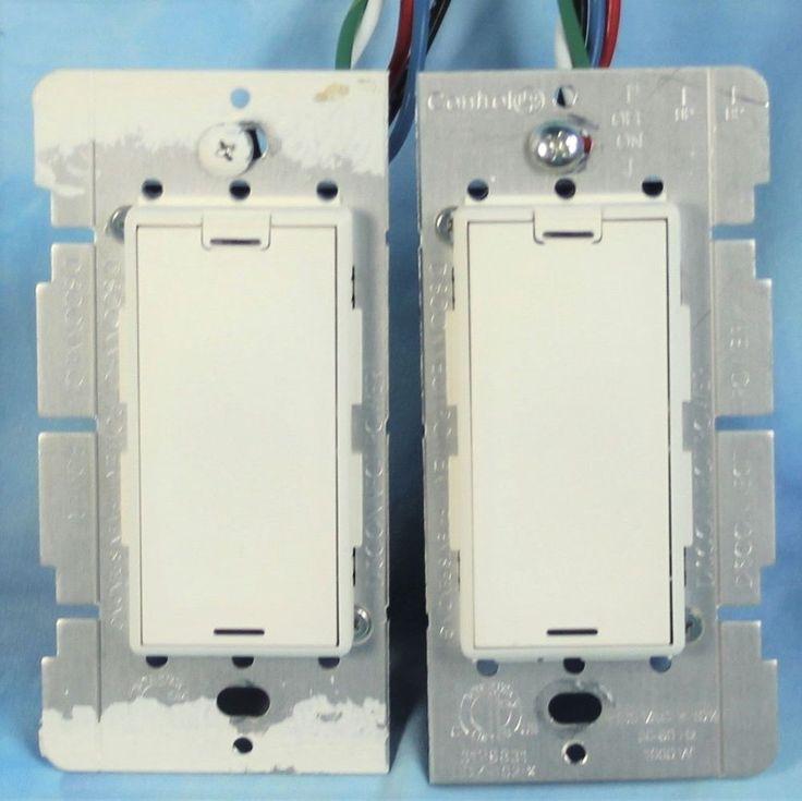 Control4 Wireless Dimmer Switches Set of 2 Control 4 LDZ-102-x WHITE ZigBee Pro #Control4