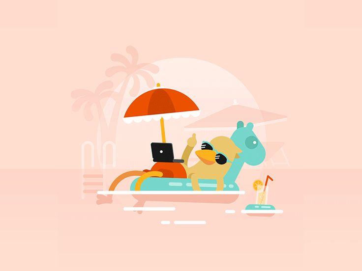 Weekend by Pat Grivet #Design Popular #Dribbble #shots