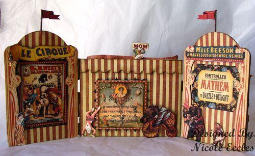 Vintage circus paper craft