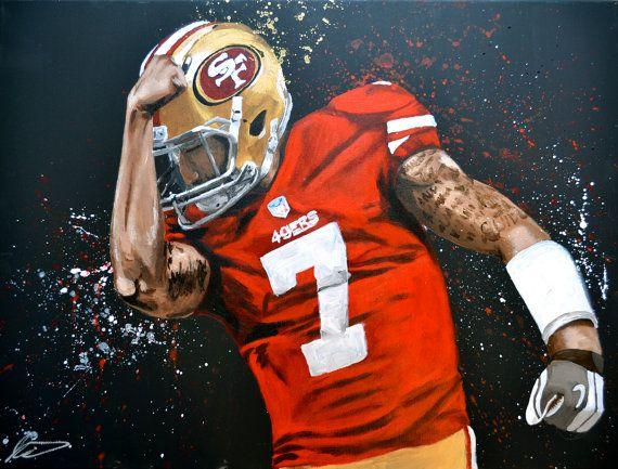 Colin Kaepernick San Francisco 49ers Original Acrylic